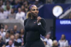 Serena Williamsová po výhre vo štvrťfinále US Open 2019 proti Čhciang Wang.