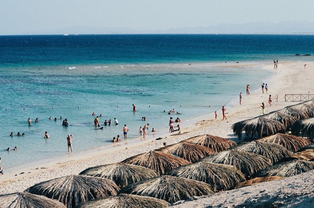 Pláž, Egypt.