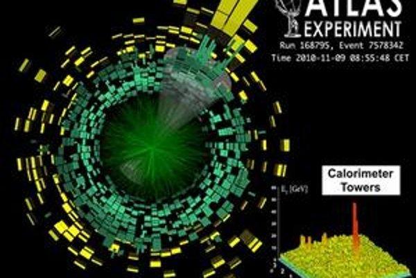 Kvark-gluónovú plazmu zaznamenali viaceré detektory LHC.