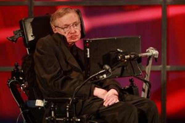Hawking počas jednej zo svojich prednášok.