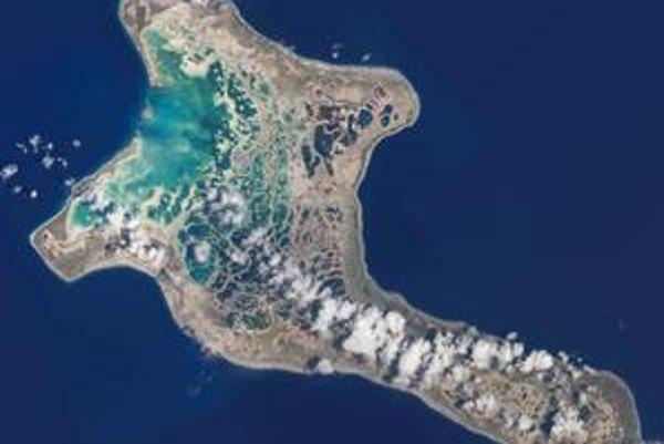 Kiribati na satelitnej snímke.