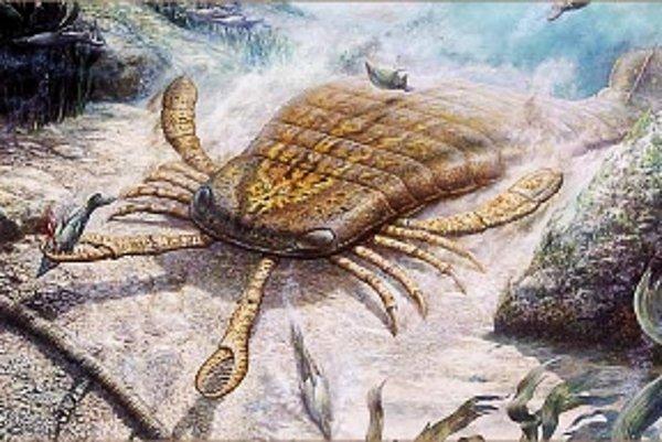 Devónsky morský škorpión.