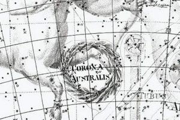 Ilustrácia z hviezdneho atlasu Uranographia Johannesa Bodeho z roku 1801.