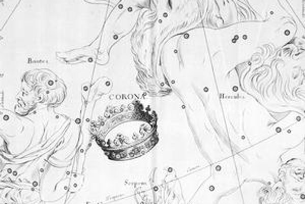 """Ilustrácia z hviezdneho atlasu """"Atlas coelestis"""" Johna Flamsteeda."""