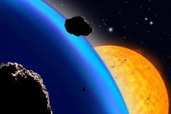 Exoplanéta pri vzdialenej hviezde v predstave umelca.