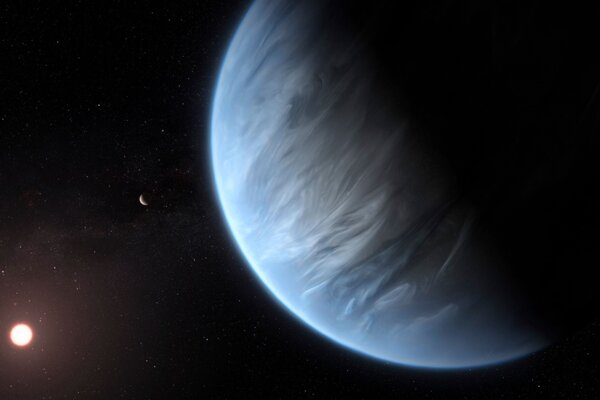Vizualizácia planéty K2-18b.