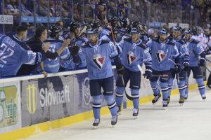 Hokejisti Slovana v predohrávke 1. kola Tipsport ligy 2019/2020 HC Košice – HC Slovan Bratislava.