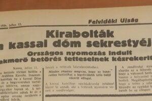 Veľkej krádeži sa venovali aj miestne noviny Feldvéki Ujság. Keďže vyšetrovanie nenapredovalo,  boli aj informácie v článkoch skôr dohadmi.