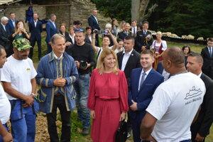 Prezidentka Zuzana Čaputová na hrade v Zborove.