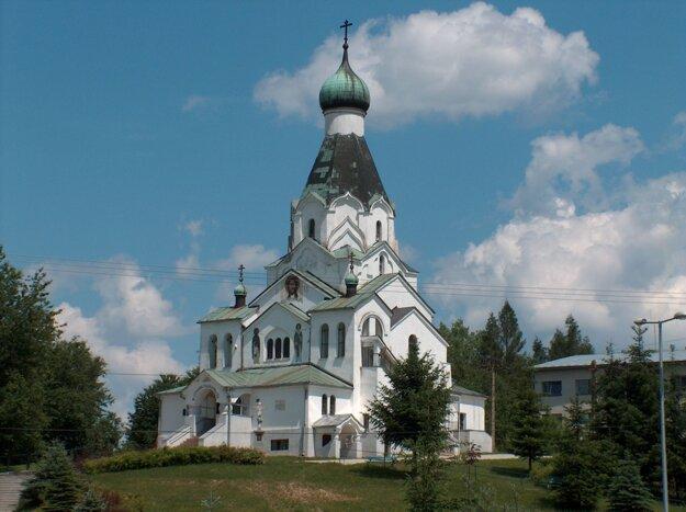 Pravoslávny chrám Svätého Ducha v Medzilaborciach.