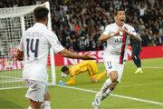 Ángel Di María sa raduje v zápase PSG - Real Madrid.