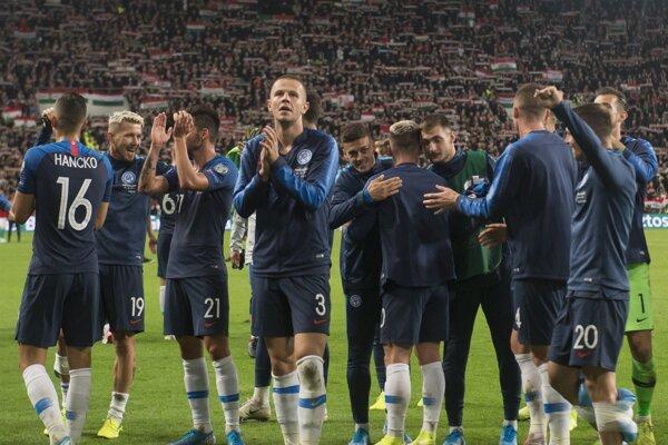 Ilustračná fotografia zo zápasu Maďarsko - Slovensko v kvalifikácii EURO 2020.