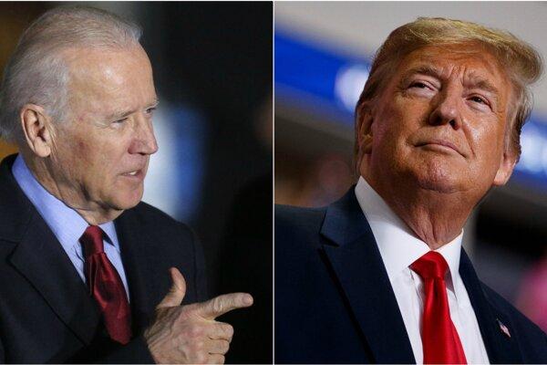 Joe Biden (vľavo) je pred nadchádzajúcimi prezidentskými voľbami jedným z favrotiov demokratov. Aktuálne čísla hovoria v jeho prospech aj v priamom súboji s Donaldom Trumpom (vpravo)