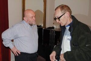 Peter Lipa a jeho dávny prešovský spoluhráč a kamarát Milan Országh.
