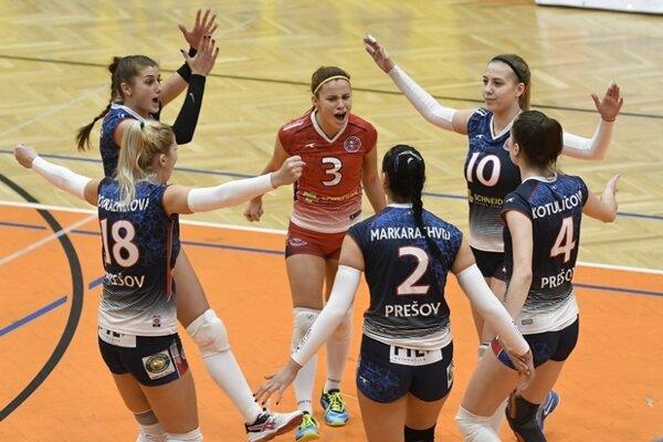 V Trnave priniesol Prešovčankám radosť iba víťazný druhý set.