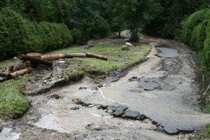 Povodeň v Starej Lesnej z júla 2018.