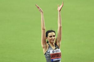 Marija Lasickienéová získala zlato v skoku žien do výšky na MS v atletike 2019 v katarskej Dauhe.