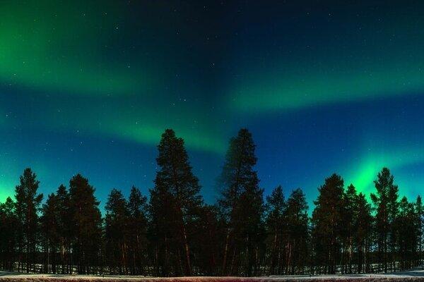 Noc vo Fínsku.