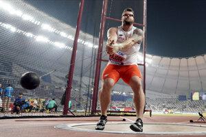 Paweł Fajdek na MS v atletike 2019 v Dauhe.