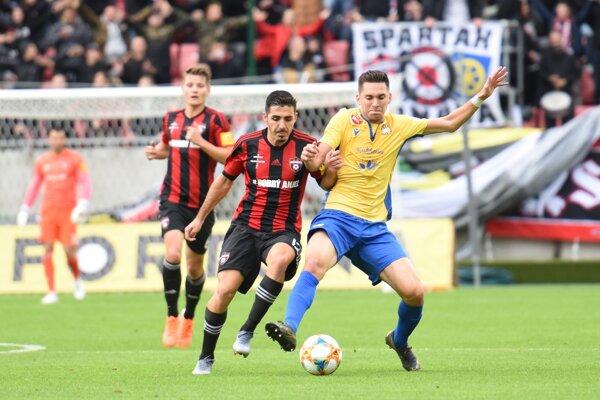 Momentka zo zápasu Spartak Trnava - DAC Dunajská Streda.