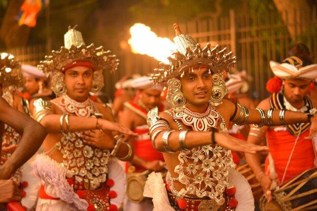 Tradičný tanec Kandyan z mesta Kandy