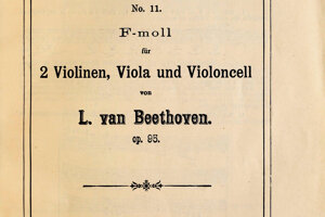 Beethovenov kvartet venovaný Zmeškalovi.