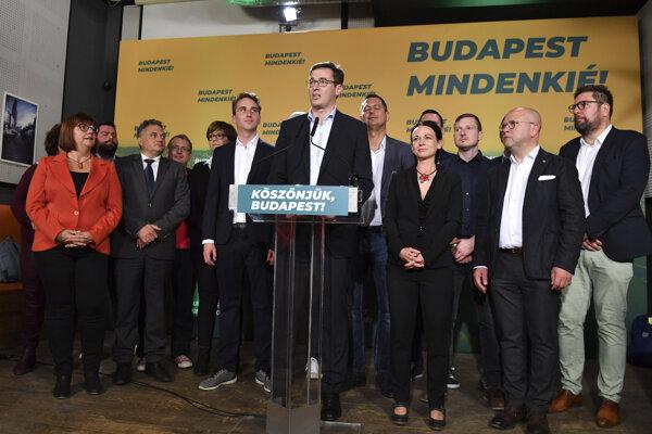 Gergely Karácsony bol kandidátom zjednotenej opozície. Voľby v Budapešti vyhral.