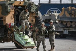 Tureckí vojaci nasadení v Sýrii.