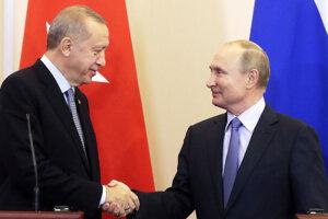 Recep Tayyip Erdogan a Vladimir Putin.