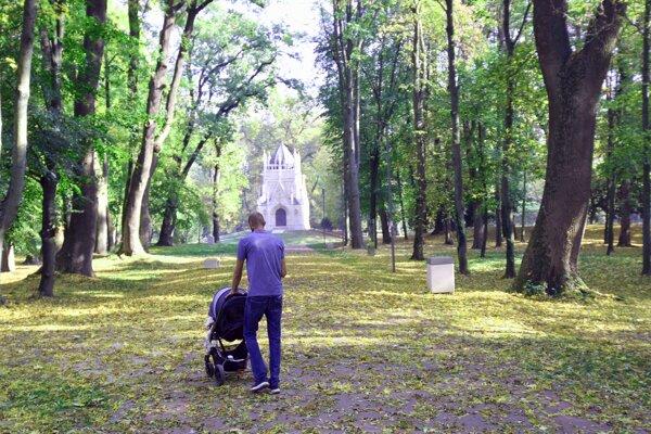 Jeseň v trebišovskom parku.