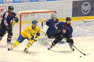 Slováci si exhibičný duel proti Švédom užili.