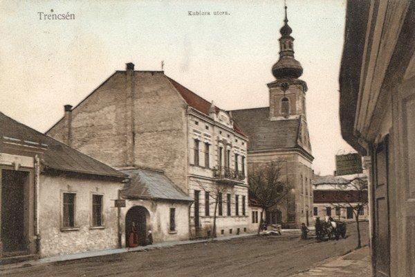 Pohľad na kostol v roku 1916.