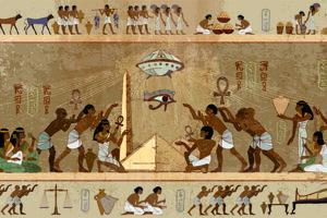 Karikatúra hieroglyfov.