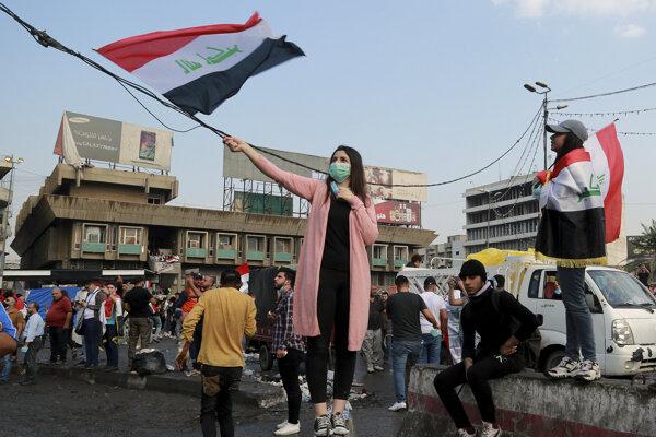 Protesty v Iraku.