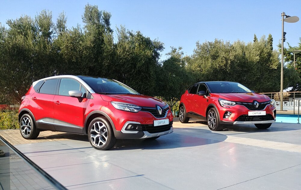 Starý a nový Renault Captur