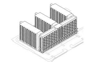 Náčrt projektu, ktorý mal vyrásť na Vajnorskej ulici.