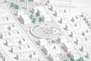 Náčrt nového centra Miloslavova.