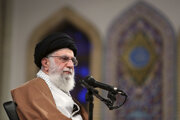 Iránsky duchovný vodca ajatolláh Sajjid Alí Husejní Chámeneí.