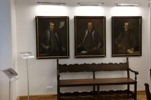 Časť zreštaurovaných portrétov niekdajších spišských richtárov.