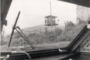Štátna hranica Devín v roku 1985.