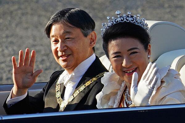 Japonský cisár Naruhito a jeho manželka cisárovná Masako.