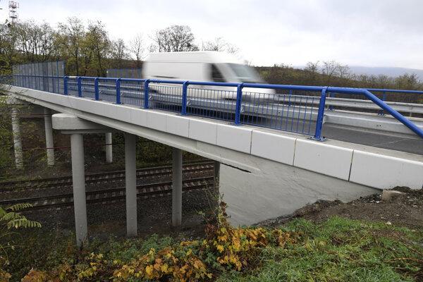 Obnovený most pri Nižnej Myšli.