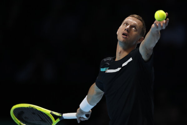 Slovenský tenista Filip Polášek na turnaji majstrov v Londýne 2019.