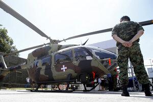 Bojový vrtuľník H145M.