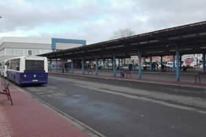 Policajti robili kontrolu na autobusovej stanici.