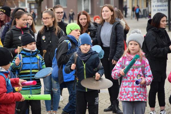Akcia sa konala na Námestí Andreja Hlinku.