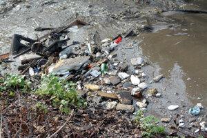Aktivisti sa obávajú množstva odpadu vo vodnom toku.