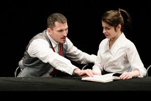 Predstavenie Ruské denníky: Ján Koleník (Docent Georgij Alexandrovič) a Monika Potokárová (Aľa Rachmanovová).