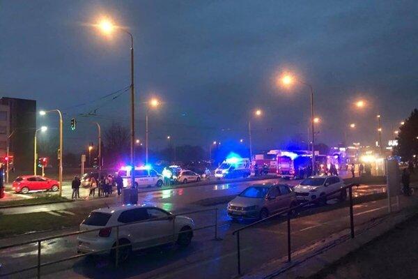 Nehoda na ulici Armádneho generála Svobodu na prešovskom sídlisku Sekčov.