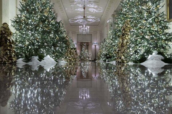 Vianočná dekorácia v Bielom dome.